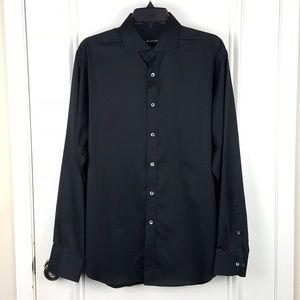 Bugatchi   Black Classic Fit Dress Shirt